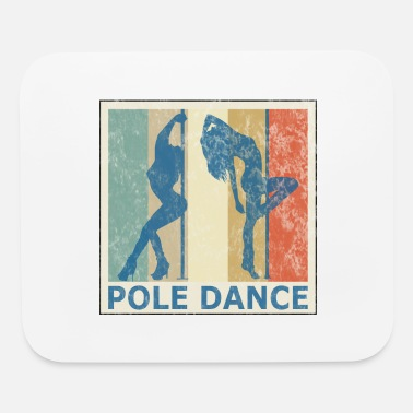Guys Night Out Retro Vintage Style Pole Dance Dancing Dancer - Mouse Pad