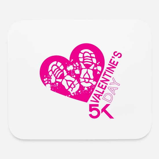 Boyfriend Mouse Pads - Valentines Day 5K - Mouse Pad white