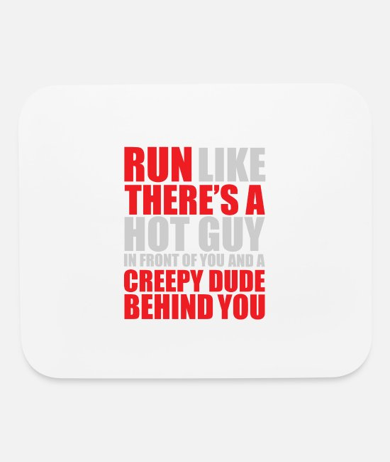 Racing Mouse Pads - Funny Runner Fitness Funny Womens - Mouse Pad white
