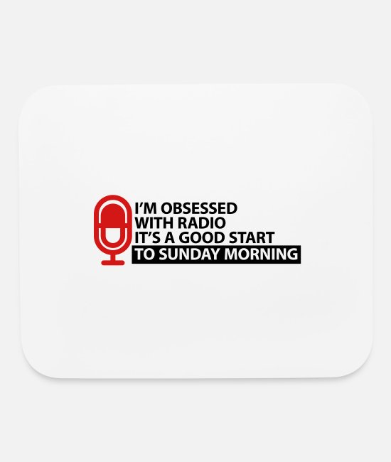 Usa Mouse Pads - Radio affairs and obsession - Mouse Pad white