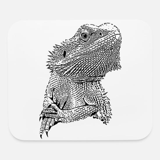 Bearded Dragon Portrait Black Mouse Pad Spreadshirt