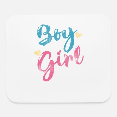 Boy Boy or Girl Auntie Loves You Gender Reveal - Mouse Pad