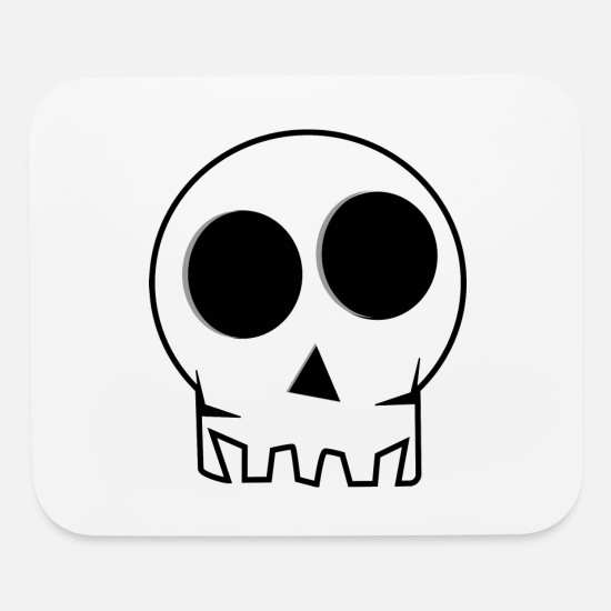 Birthday Mouse Pads - skull - Mouse Pad white