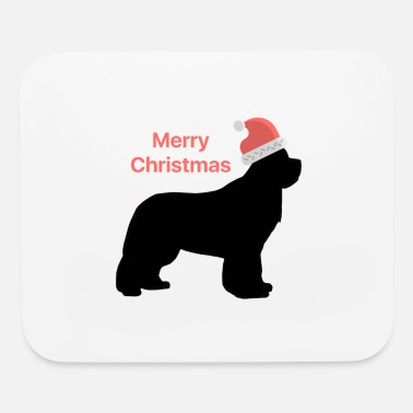 Christmas Design Newfie with Santa Hat - Mouse Pad