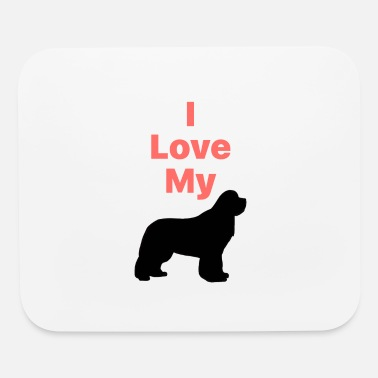 I Love My Newfie_Phone Case - Mouse Pad