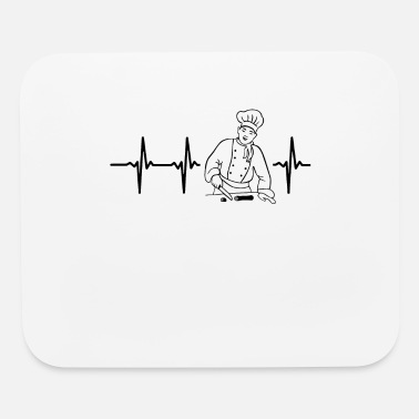 Heart My heart beats for chefs - Mouse Pad