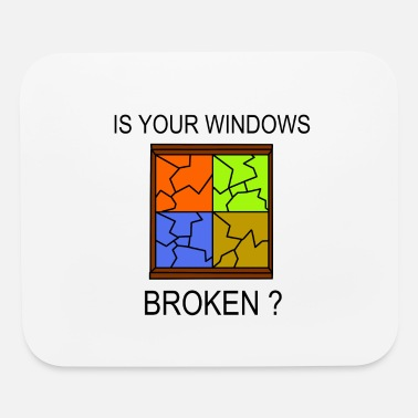 Windows Broken Windows - Mouse Pad