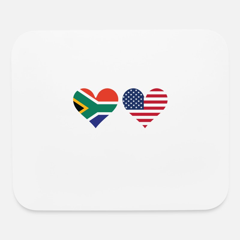 South African American Flag Hearts By Awesome Shirts Spreadshirt