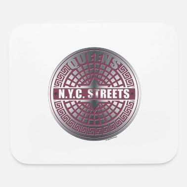 NYC Manhole Queens Pink - Mouse Pad