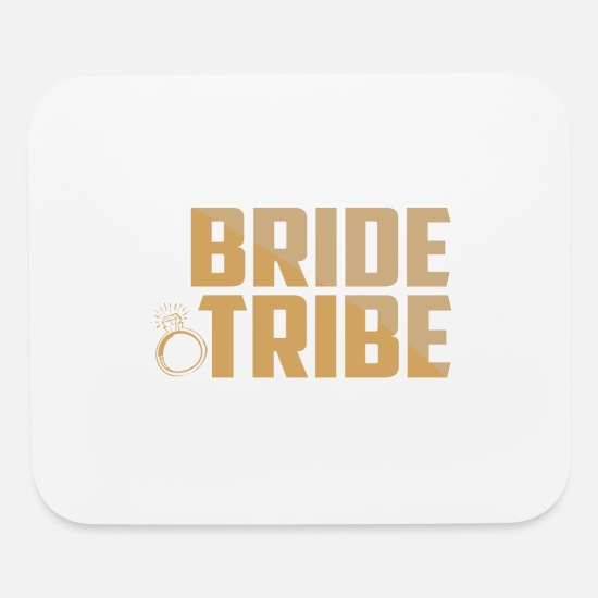 Bridal-shower Mouse Pads - Bride Tribe Bridal Shower Party - Mouse Pad white