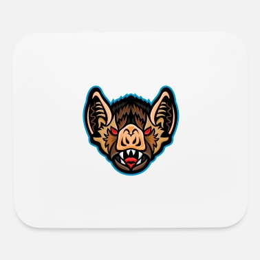 Hairy Vampire Bat Head Mascot - Mouse Pad