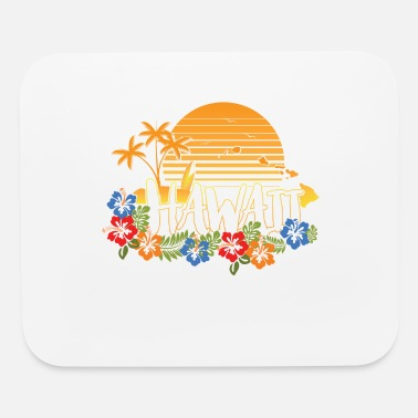 Hipster Hawaiishirt men & woman, vintage style, islands - Mouse pad Horizontal