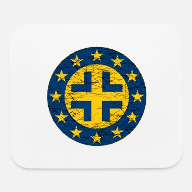 Eu EU Flag and German Cross - Mouse Pad