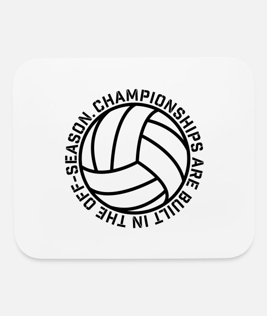 Training Mouse Pads - Championships Volleyball - Mouse Pad white