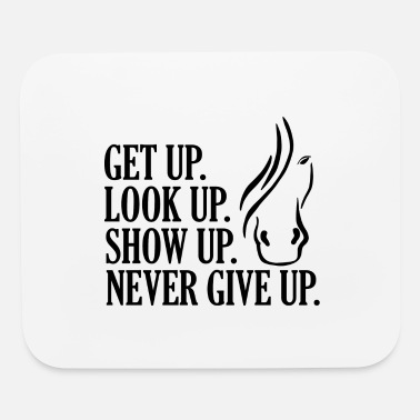 Horse Manure Horse Never Give Up - Mouse Pad