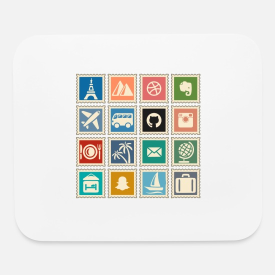 Stamps Mouse Pads - Stamp collecting - Mouse Pad white