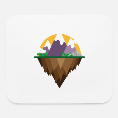 Camper Flat Design - Mountain and lake - Gift Idea - Mouse Pad