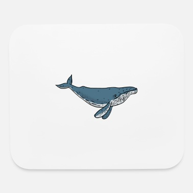 Whale Drawing Humpback Whale Color Drawing - Mouse Pad