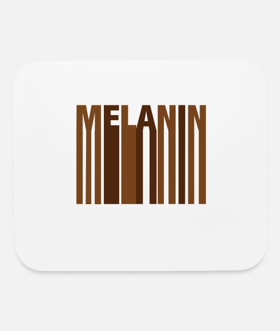 Skin Color Mouse Pads - Melanin Every Shade Slays - Mouse Pad white