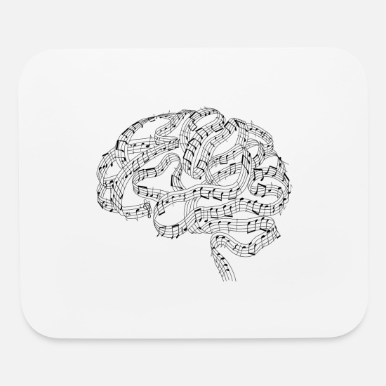 I Love Music Mouse Pads - Sound of Mind | Audiophile's Brain - Mouse Pad white
