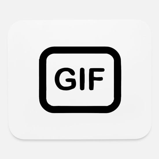 Gift Idea Mouse Pads - Gif Icon - Mouse Pad white