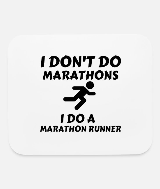 Boston Marathon Mouse Pads - DO MARATHON RUNNER - Mouse Pad white