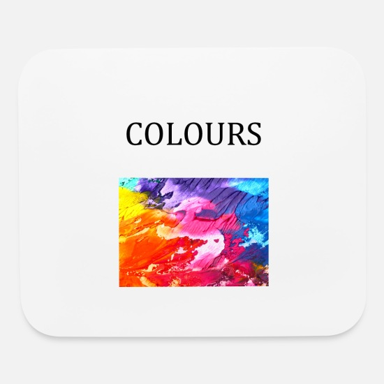 Colourful Mouse Pads - colours - Mouse Pad white