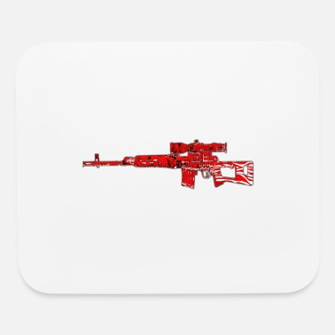 Sniper Rifle Sniper Rifle Red - Mouse Pad