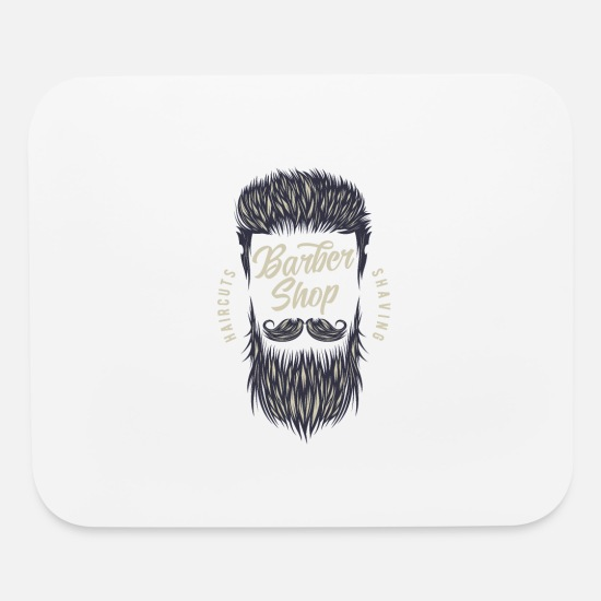 Barber Mouse Pads - Barber Shop - Mouse Pad white