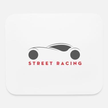 Street Racing Mouse pad Horizontal - white