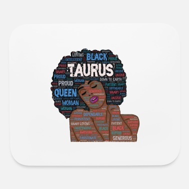 Taurus Artistic Afro Birthday Art - Mouse Pad