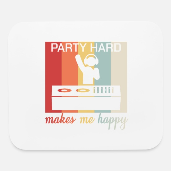 Dj Mouse Pads - Dj House Dance Retro Dabbing Happiness Bliss Gift - Mouse Pad white