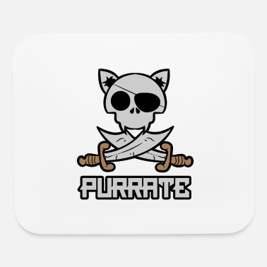 Jolly Roger Purrate Cat Jolly Roger - Mouse Pad