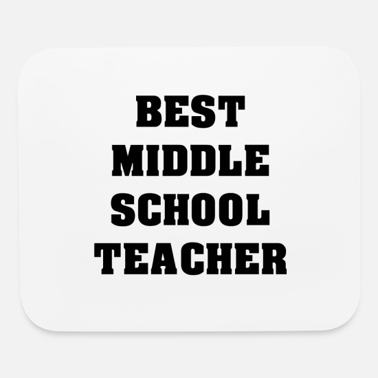 School Class Mouse Pads - Best Middle School Teacher - Mouse Pad white