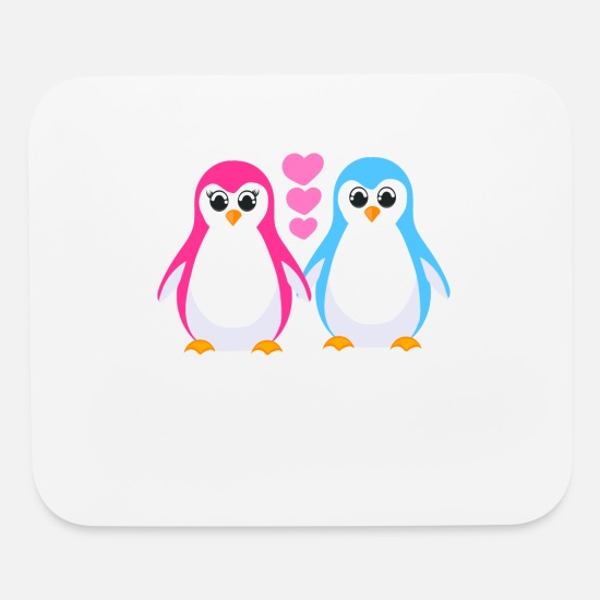 d956f4f2 Beak Mouse Pads - Cute Penguins A Cute Illustrated Penguin In Pink - Mouse  Pad white