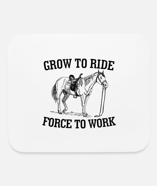 Haflinger Mouse Pads - Horse Pony Riding Frieze Haflinger Saddle Gift - Mouse Pad white
