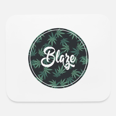 Trippy Weed Blaze Weed Graphic - Mouse Pad