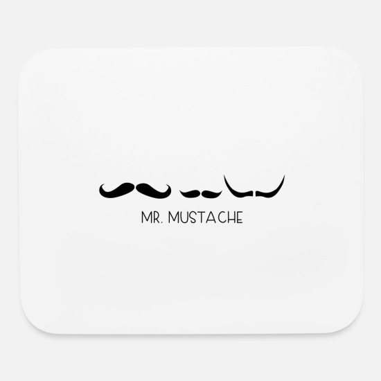 Stylish Mouse Pads - mustache - Mouse Pad white