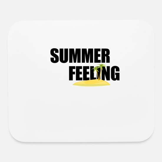 Vibe Mouse Pads - Summer feeling palm island summer feeling gift - Mouse Pad white