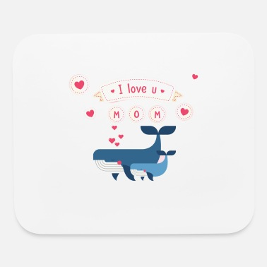 I Love i love you mom whale - Mouse Pad