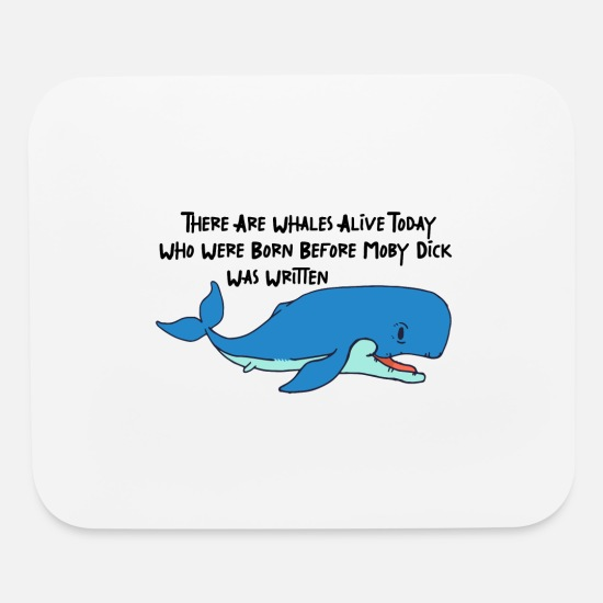 Whale Mouse Pads - Funny whale whale sperm whale blue whale fact gift - Mouse Pad white