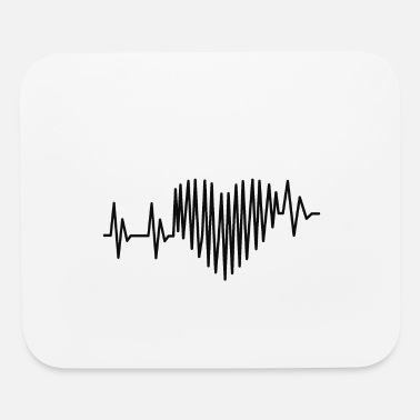 Heart Heartbeat Heart lines - Mouse Pad