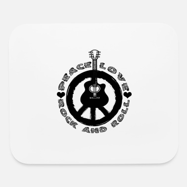 Hard Rock Funny Rockn Roll Tshirt Peace Love - Mouse Pad