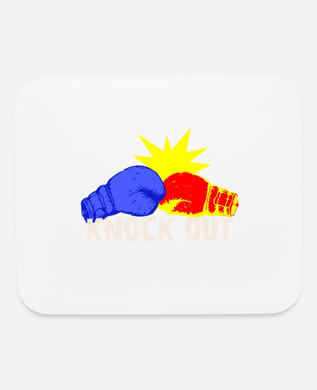 Punch Mouse Pads - KNOCK OUT Boxes Gift - Mouse Pad white