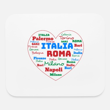 Cuore ITALY HEART ITALIA CUORE WORD CLOUD HOLIDAY (AZUR) - Mouse Pad