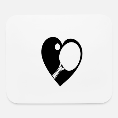 Racket Racket with a heart - Mouse Pad