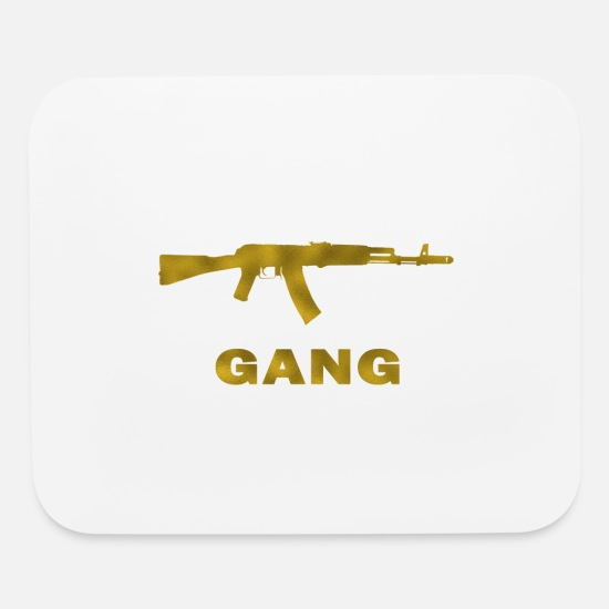 Gold Mouse Pads - AK 47 Gang Gold - Mouse Pad white