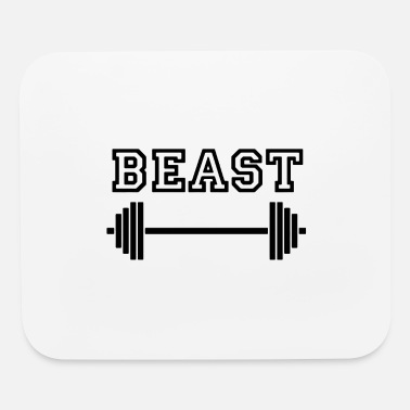 Motivational Beast with weights 01 - Mouse Pad