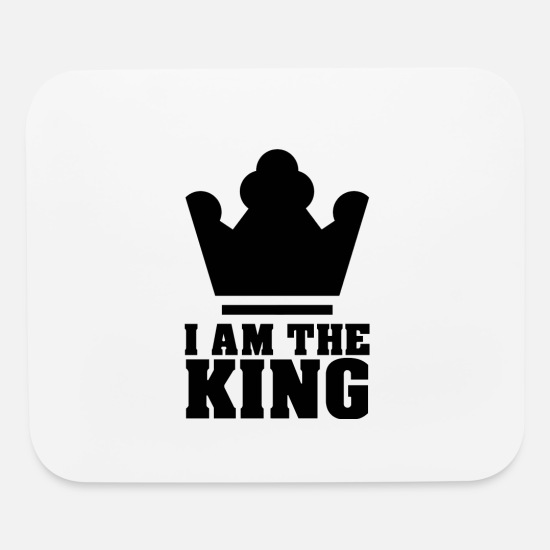King Queen Mouse Pads - king - Mouse Pad white