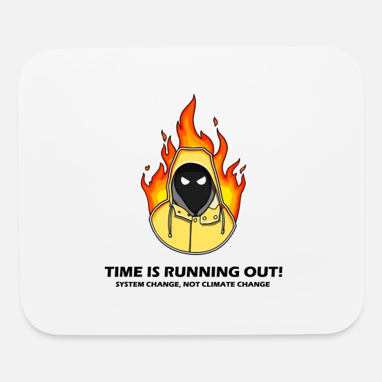 Greta Mouse Pads - Greta Thunberg, time is running out! - Mouse Pad white